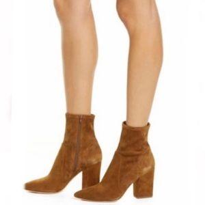 Tory Burch | Penelope stretch suede bock heel boot